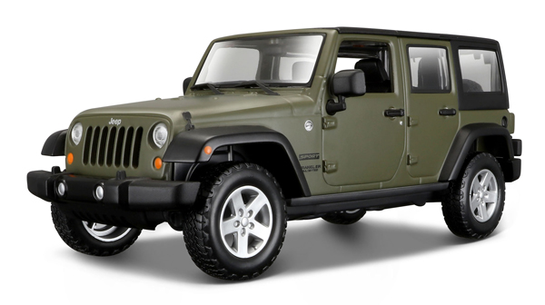 2015 Wrangler Unlimited Jeep Matte Green 1/24 Maisto Collector Car