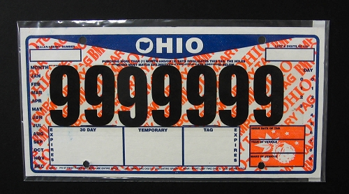 Temporary Tag License Plate Cover