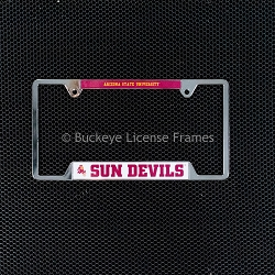 Arizona State University Sun Devils Chrome License Plate Frame - Metal