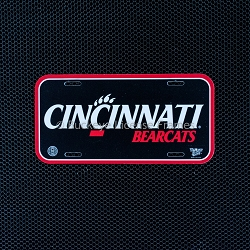 Cincinnati Bearcats Plastic License Plate