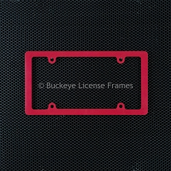 Blank Thin Rim Red Plastic License Plate Frame