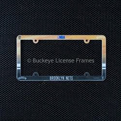 Brooklyn Nets Full Color Plastic License Plate Frame
