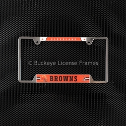 Cleveland Browns Chrome Metal License Plate Frame