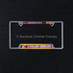 Cleveland Cavaliers Chrome License Plate Frame - Metal