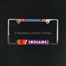 Cleveland Indians Chrome License Plate Frame - Metal
