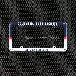 Columbus Blue Jackets Full Color Plastic License Plate Frame