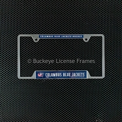 Columbus Blue Jackets Chrome License Plate Frame - Metal