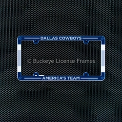 Dallas Cowboys Americas Team Full Color Plastic License Plate Frame