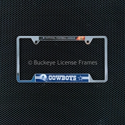 Dallas Cowboys Chrome License Plate Frame NFL Top - Metal