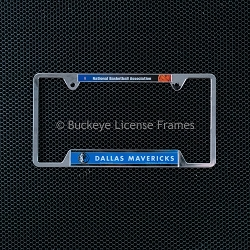 Dallas Mavericks Chrome License Plate Frame - Metal