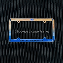 Dallas Mavericks Full Color Plastic License Plate Frame