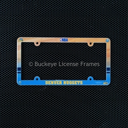 Denver Nuggets Full Color Plastic License Plate Frame