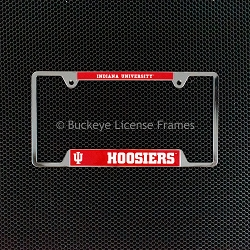 Indiana University Hoosiers Chrome License Plate Frame - Metal