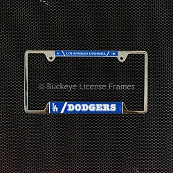 Los Angeles Dodgers Chrome License Plate Frame - Metal