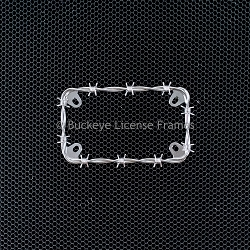Chrome Barbed Wire Motorcycle Plate Frame