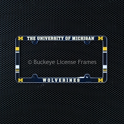 University Of Michigan Wolverines Full Color Plastic License Plate Frame