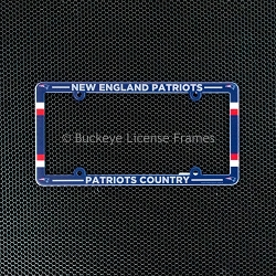 New England Patriots Full Color Plastic License Plate Frame-Patriots Country
