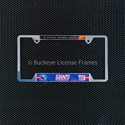 New York Giants Chrome License Plate Frame - Metal