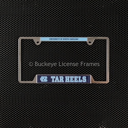 University Of North Carolina Tar Heels Chrome License Plate Frame - Metal