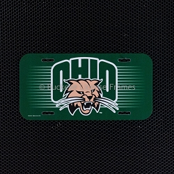 Ohio University Bobcats Logo Plastic License Plate