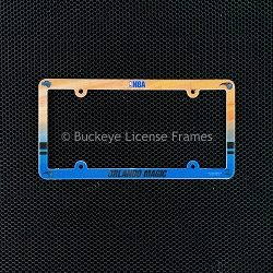 Orlando Magic Full Color Plastic License Plate Frame