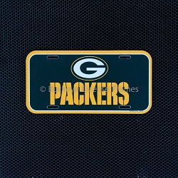 Green Bay Packers Plastic License Plate