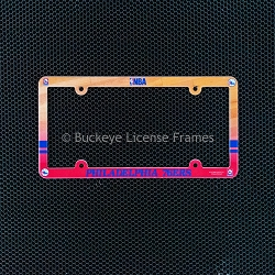 Philadelphia 76ers Full Color Plastic License Plate Frame