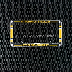 Pittsburgh Steelers Full Color Plastic License Plate Frame