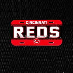 Cincinnati Reds Plastic License Plate