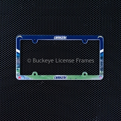 San Diego Chargers Full Color Plastic License Plate Frame