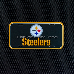 Pittsburgh Steelers Logo Plastic License Plate