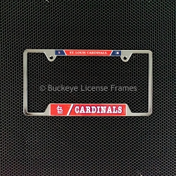 St. Louis Cardinals Chrome License Plate Frame - Metal