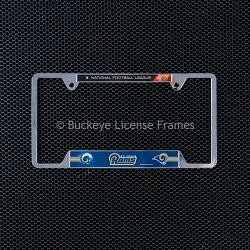St. Louis Rams Chrome Metal License Plate Frame