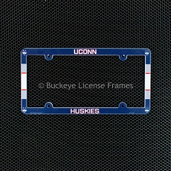 University of Connecticut Huskies Full Color Plastic License Plate Frame