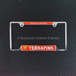University Of Maryland Terrapins Chrome License Plate Frame - Metal