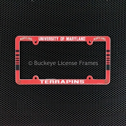 University Of Maryland Terrapins Full Color Plastic License Plate Frame