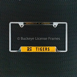 University of Missouri Tigers Chrome License Plate Frame - Metal