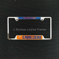 University Of Virginia Cavaliers Chrome License Plate Frame - Metal