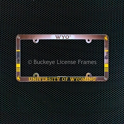 University Of Wyoming Full Color Plastic License Plate Frame