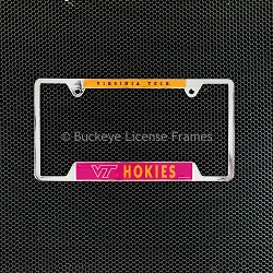 Virginia Tech Hokies Chrome License Plate Frame - Metal
