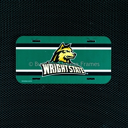 Wright State University Logo Plastic License Plate