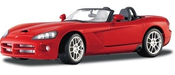 2003 Red Dodge Viper SRT - 10 Convertible 1/24 Maisto Collector Car